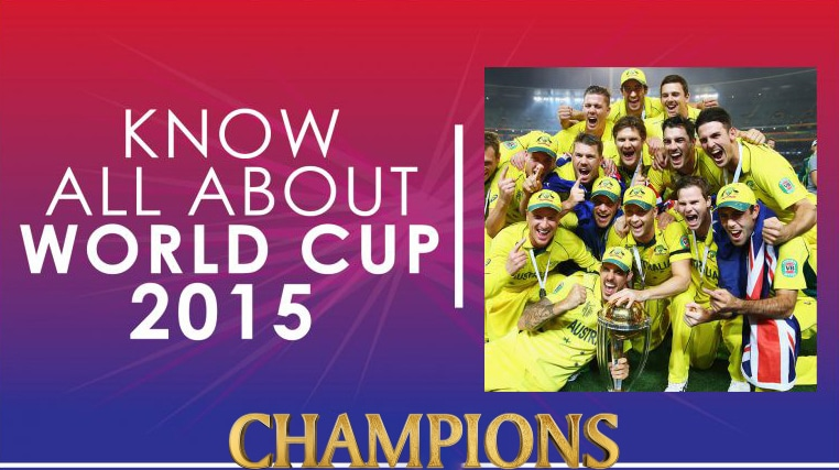 ICC Cricket World Cup 2015 Champions and runner up